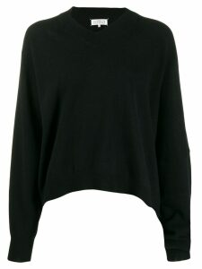Maison Margiela asymmetric hem jumper - Black