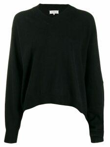Maison Margiela asymmetric hem jumper - Black