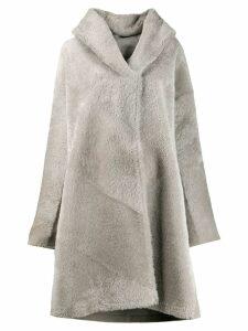 Liska hooded fur coat - Grey