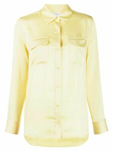 Equipment long-sleeve fitted blouse - Yellow