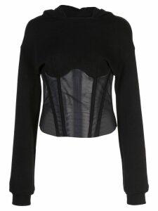 RtA bodice sweatshirt - Black