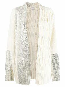 Pinko foil print cardigan - White