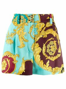 Versace Baroque print shorts - Blue