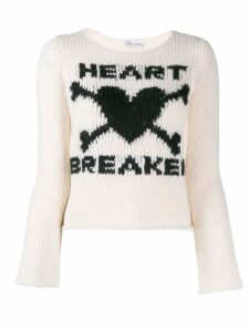 Red Valentino Heart Breaker sweater - NEUTRALS