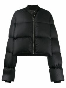 Rick Owens cropped puffer jacket - Black