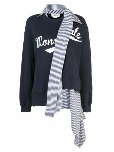 Monse deconstructed sweatshirt - Blue