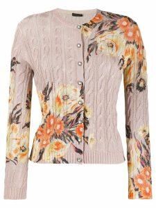 Etro floral print cardigan - NEUTRALS