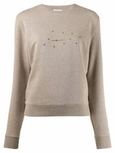 Saint Laurent stars print sweatshirt - NEUTRALS