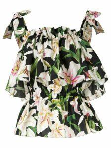 Dolce & Gabbana Lily print top - Multicolour
