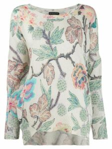 Etro floral print jumper - Neutrals
