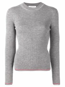 Thom Browne RWB Tipping Stripe Pullover - Grey