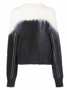 Proenza Schouler PSWL Dip Dye Crewneck Sweater - Blue