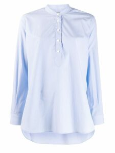 Joseph flared long-sleeve shirt - Blue
