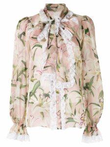 Dolce & Gabbana lily print blouse - Pink