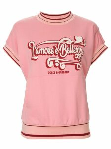 Dolce & Gabbana short-sleeved sweatshirt - PINK
