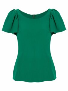 Dolce & Gabbana ruffled sleeve top - Green