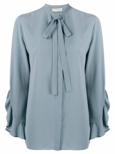 Etro ruffle trimmed blouse - Blue