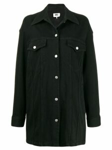 Mm6 Maison Margiela oversized denim shirt - Black