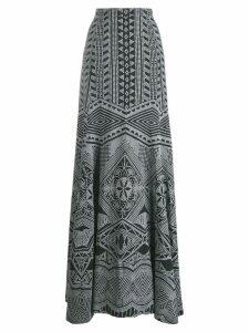 Antonio Berardi long embroidered skirt - Black