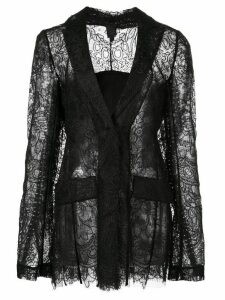 Vera Wang sheer lace fitted jacket - Black