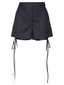 Vera Wang striped bloomer detail shorts - Blue