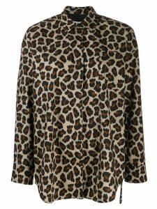 MSGM oversized leopard shirt - NEUTRALS