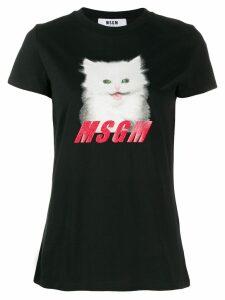 MSGM printed kitty T-shirt - Black