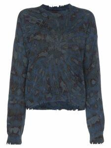 RtA tie-dye cashmere jumper - Blue