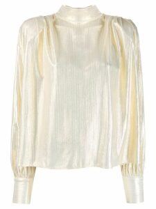MSGM high-neck blouse - Gold