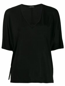 Luisa Cerano V-neck blouse - Black
