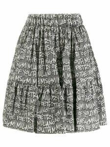 MSGM printed skirt - Black