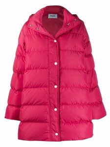 MSGM oversized padded coat - Pink