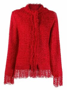 MSGM fringed jacket - Red