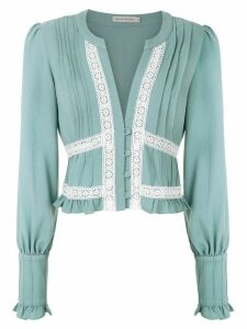 Martha Medeiros Nervura long sleeved blouse - Green