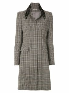 Martha Medeiros Basque Renascença trench coat - Grey