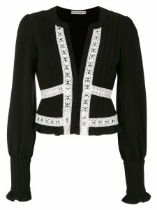 Martha Medeiros Nervura long sleeved blouse - Black