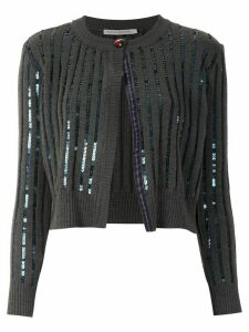 Martha Medeiros cropped knitted cardigan - Green