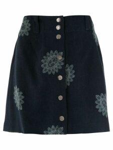 Martha Medeiros Mandacaru Greta skirt - Blue