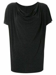 Alcaçuz Logaritimo draped top - Black