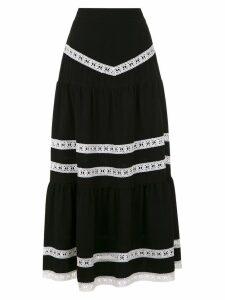 Martha Medeiros Nervuras midi skirt - Black