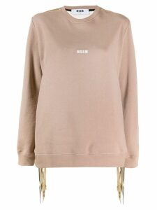 MSGM knitted sweatshirt - Brown