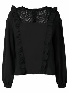 Martha Medeiros Renascença ruffle top - Black