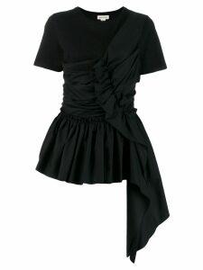 ALEXANDER MCQUEEN ruffle trimmed blouse - Black