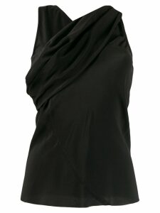 Rick Owens cross front blouse - Black