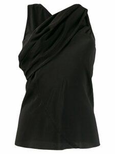 Rick Owens cross front blouse - Black
