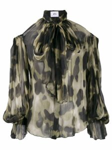 Atu Body Couture animal print blouse - Black