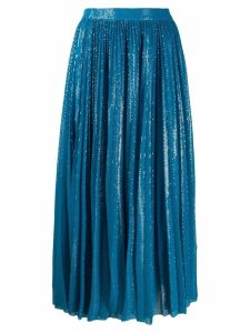 MSGM sequin embellished pleated skirt - Blue