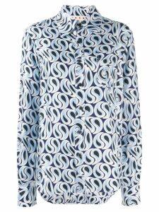 Marni Camicia print shirt - Blue