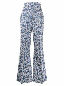 Atu Body Couture flared Rhytm trousers - Blue
