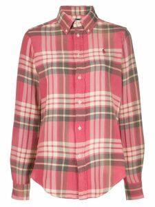 Polo Ralph Lauren logo long-sleeve shirt - Red
